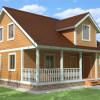 Проект дома из бруса  «Даниил»