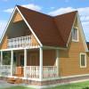 Проект дома из бруса  «Любомир»