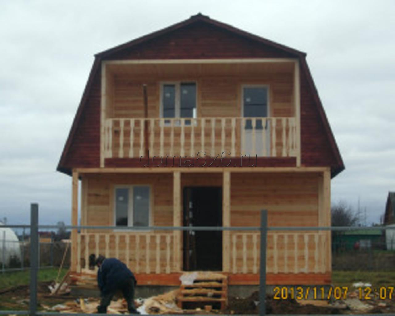Строительство дома в Шимске Новгородской области