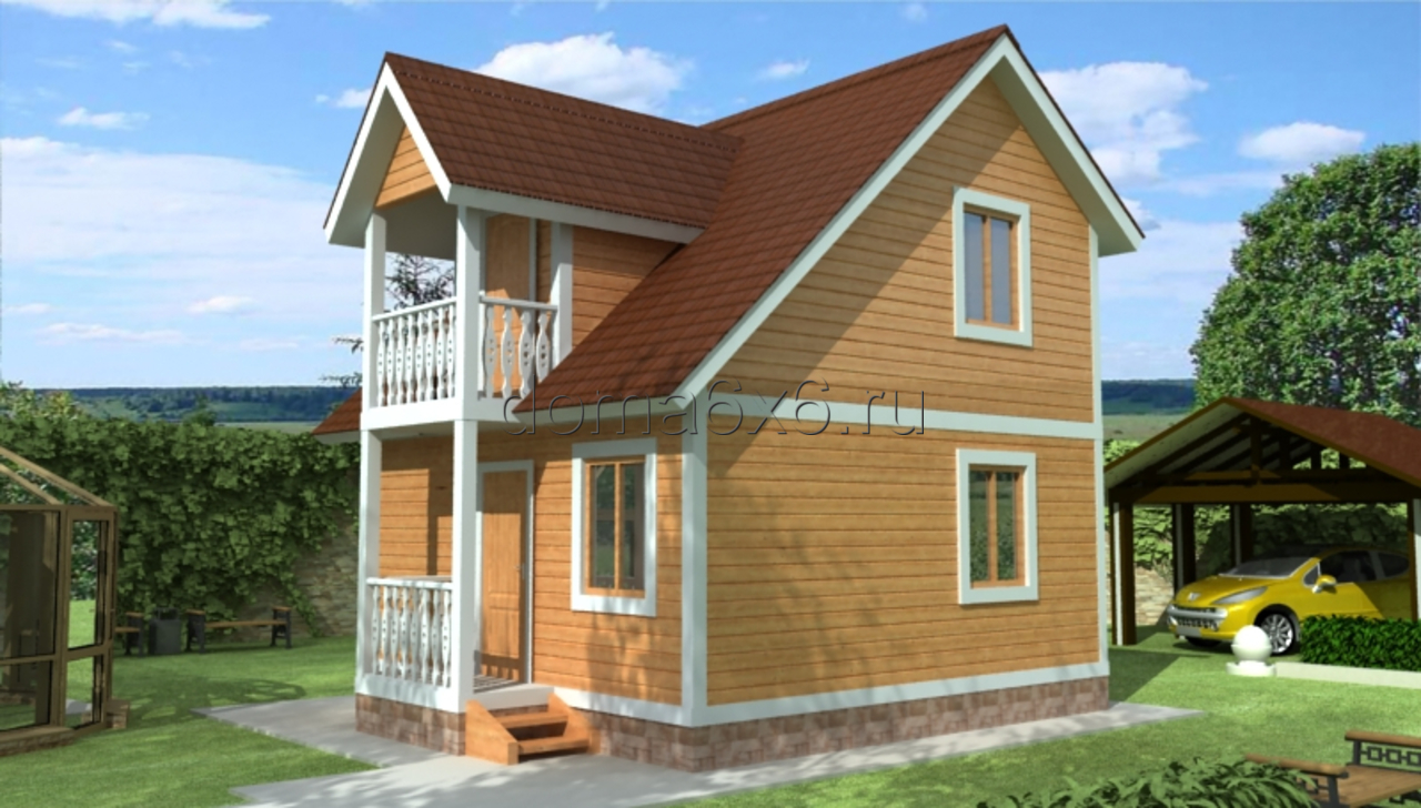 "Проект дома из бруса ""Эдуард"""