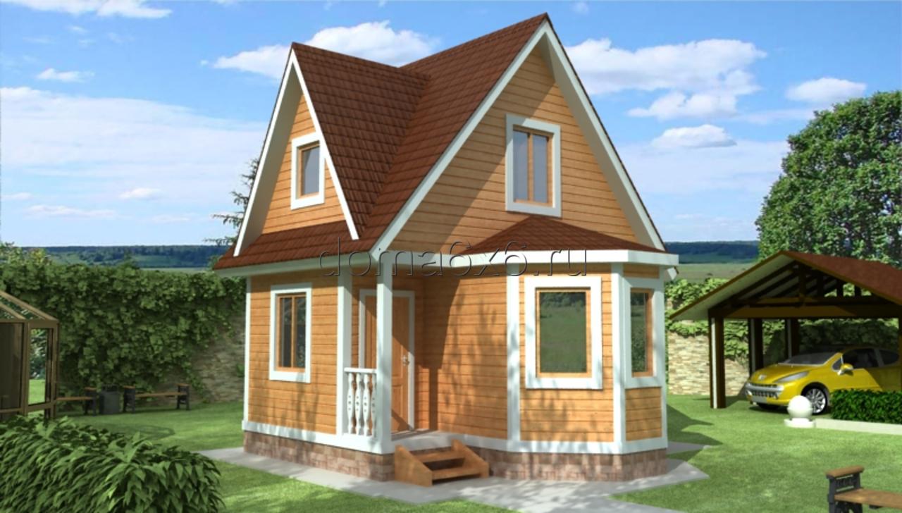 """Проект дома из бруса """"Руслан"""""""