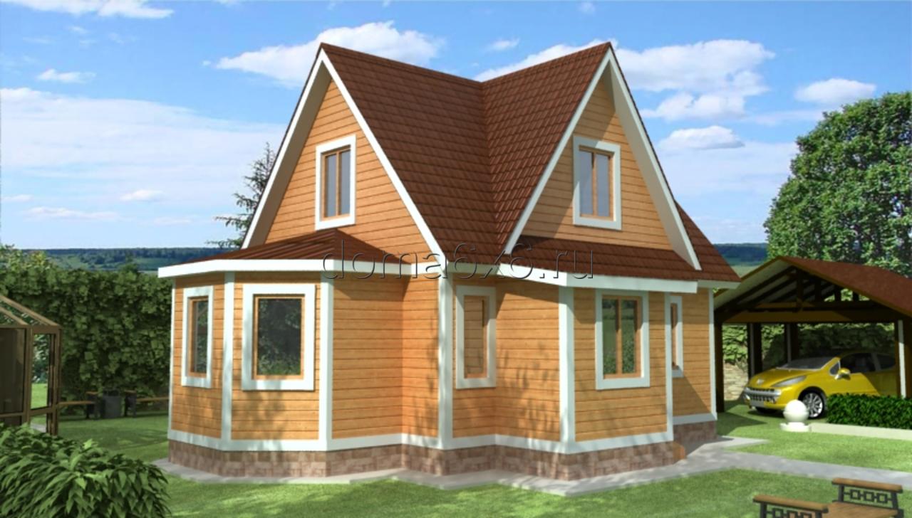 """Проект дома из бруса """"Савелий"""""""