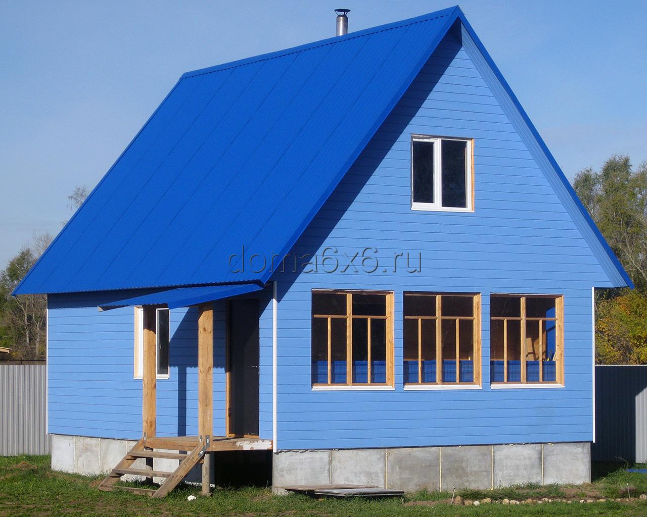 Дом 6 на 5 из бруса