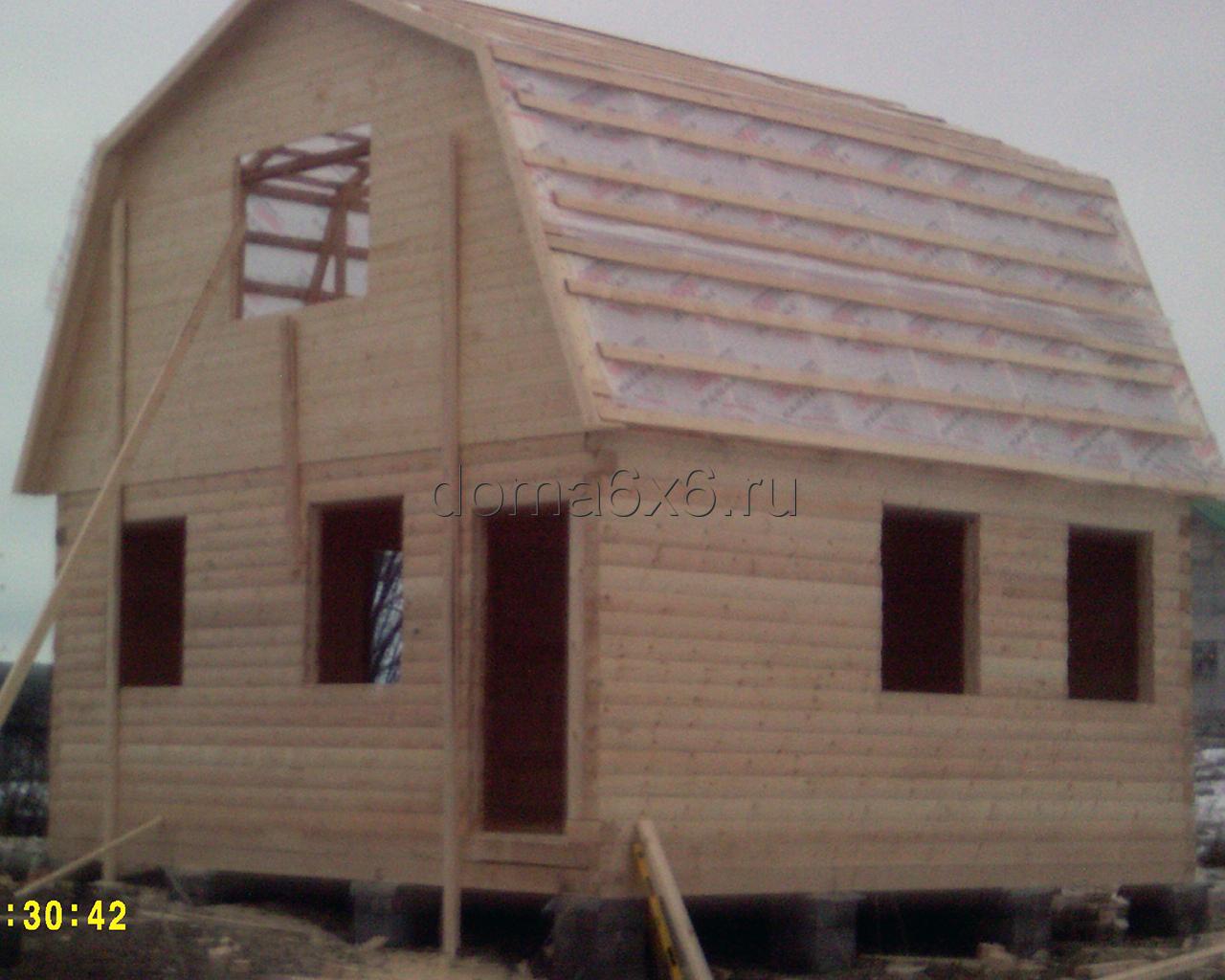 Дом из профилированного бруса п.Рамешки - строительство