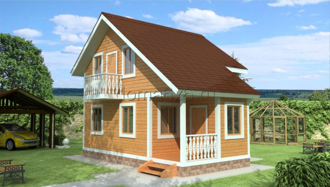 """Проект дома из бруса """"Самуил"""""""