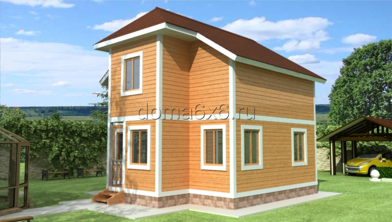"Проект дома из бруса ""Семён"""