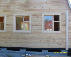 Процесс строительства. Окна.