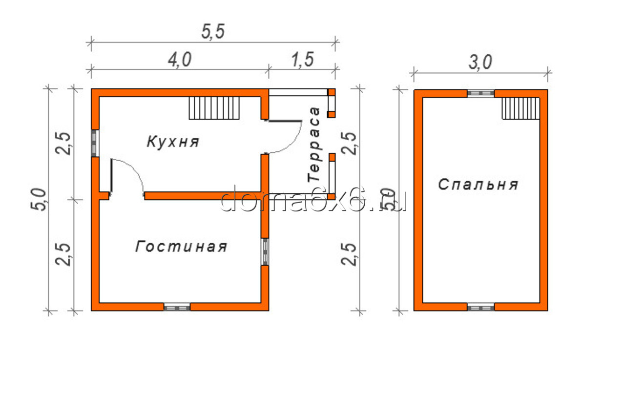 "Дом из бруса ""Антон"" - план"