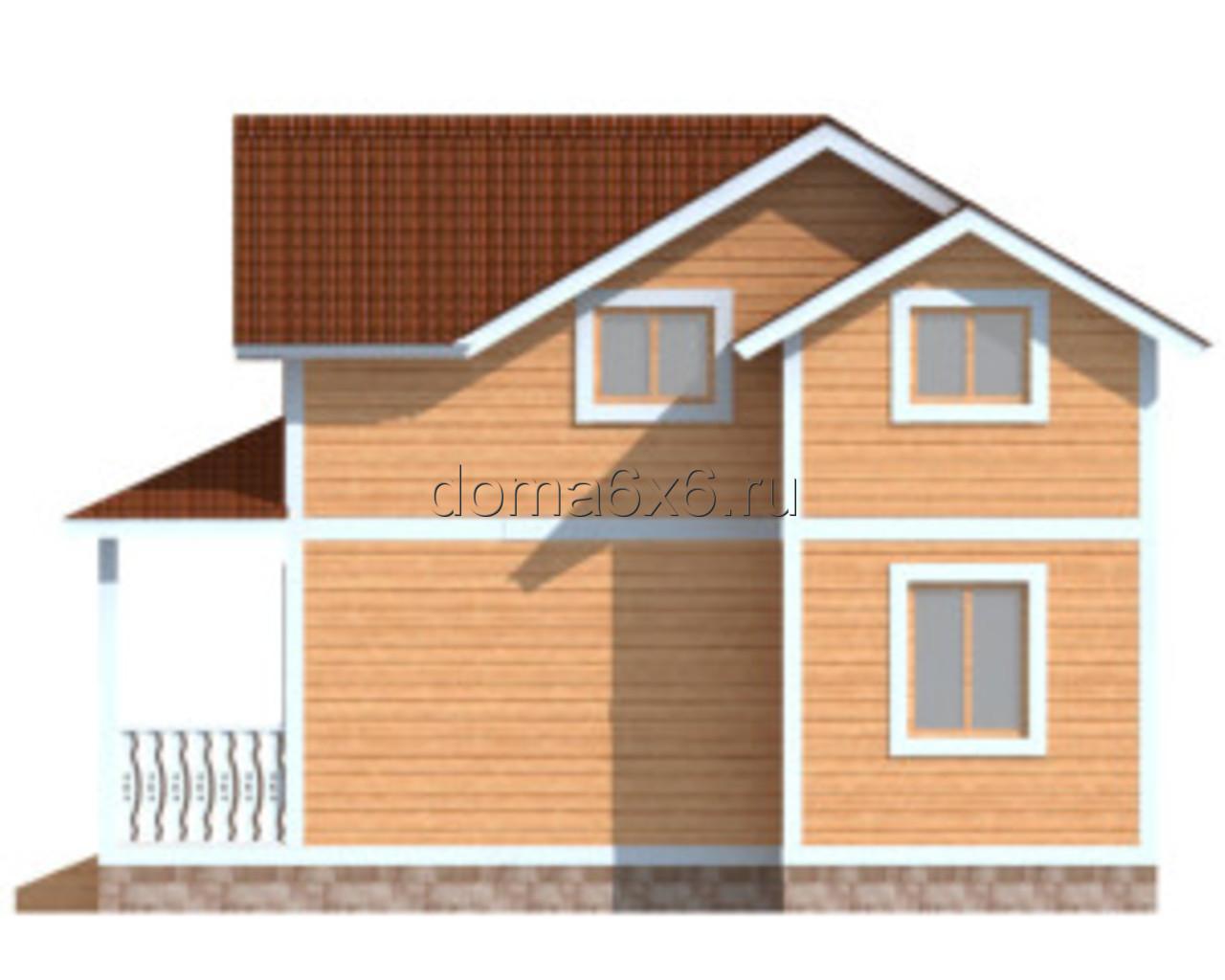 """Проект дома из бруса """"Ефим"""" - 1"""