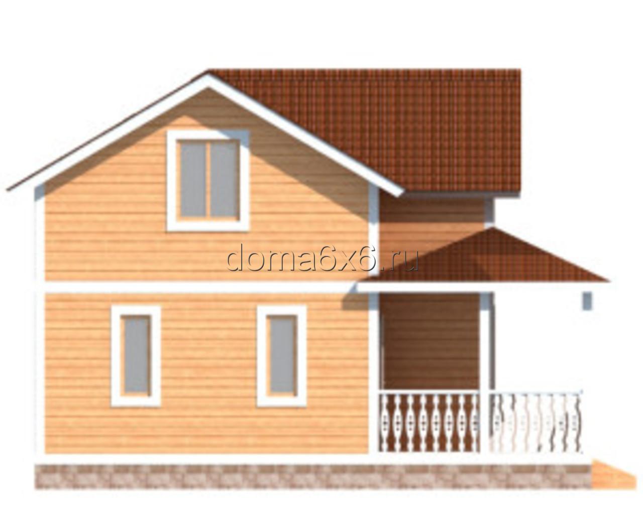 """Проект дома из бруса """"Ефим"""" - 4"""