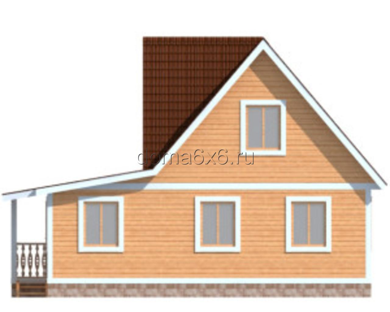 """Проект дома из бруса """"Роберт"""" - 1"""
