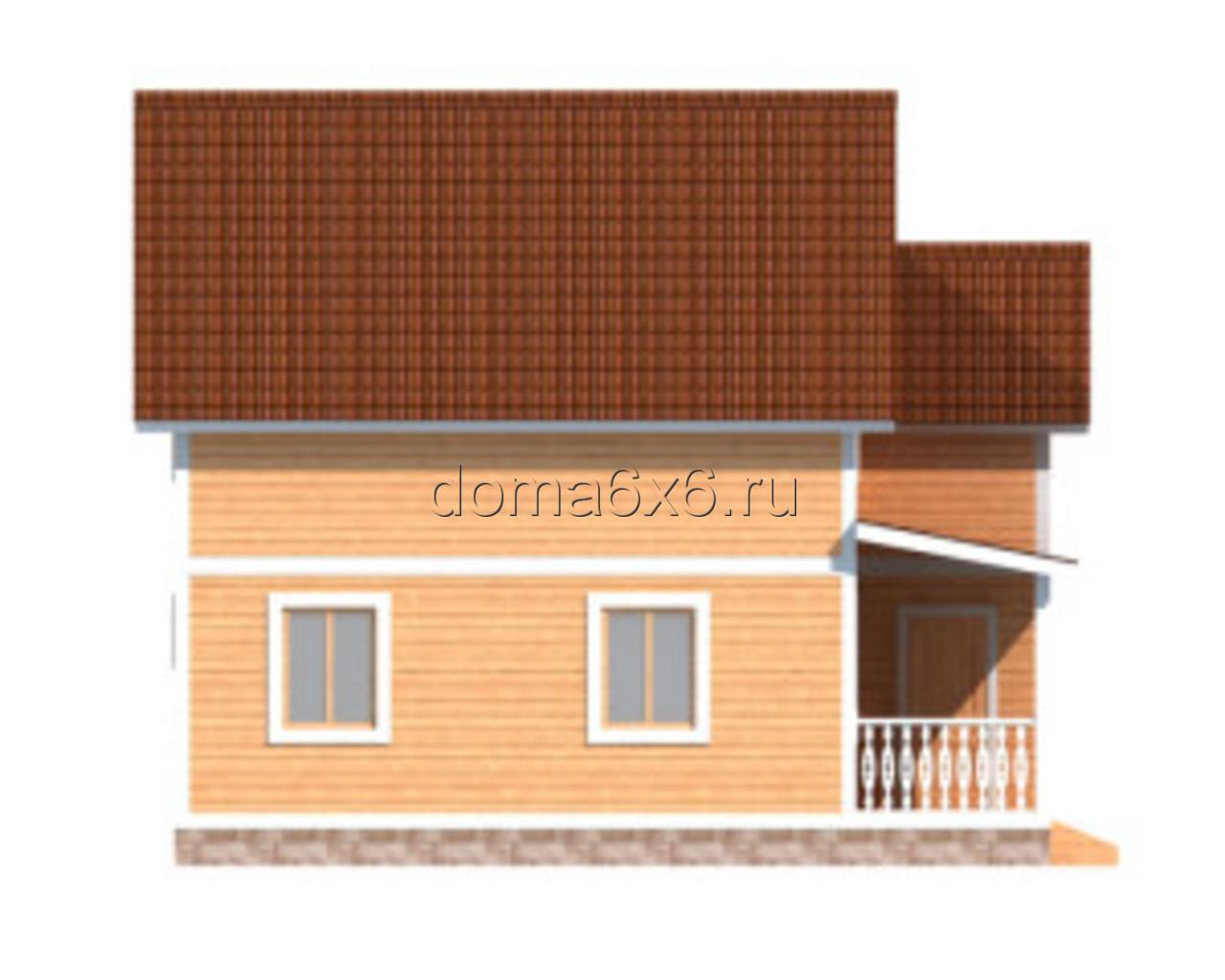 """Проект дома из бруса """"Ростислав"""" - 2"""