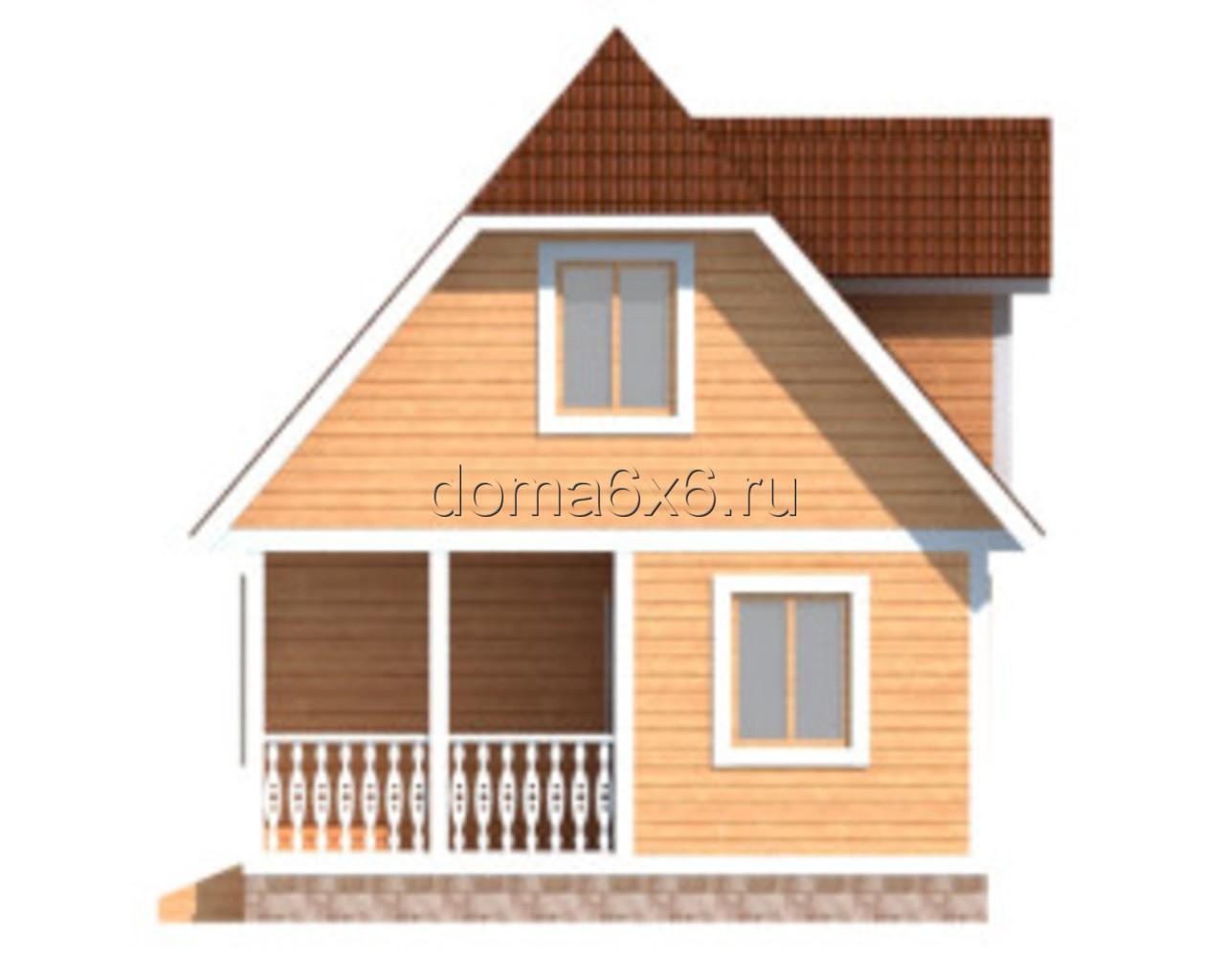 "Проект дома из бруса ""Тимофей"" - 2"