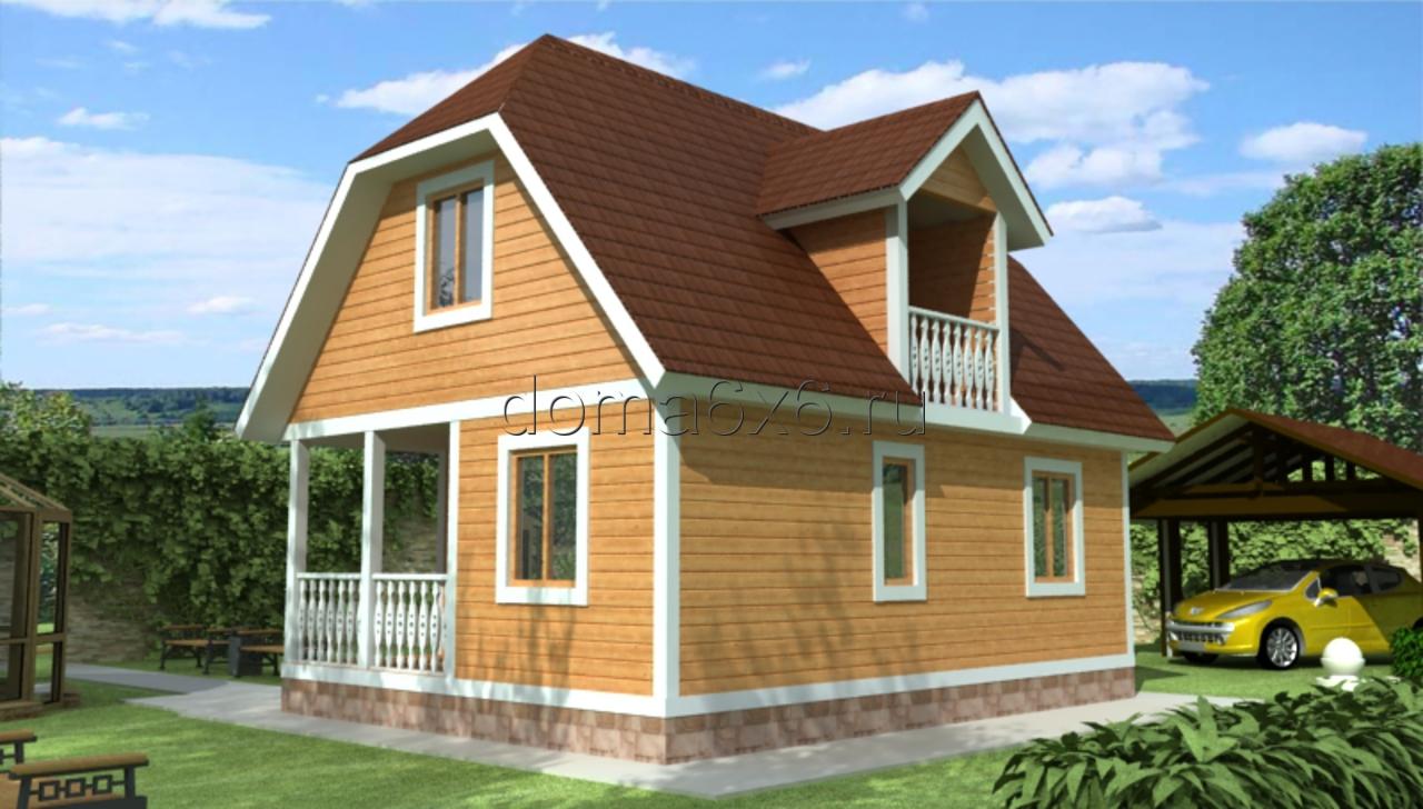 "Проект дома из бруса ""Тимофей"""