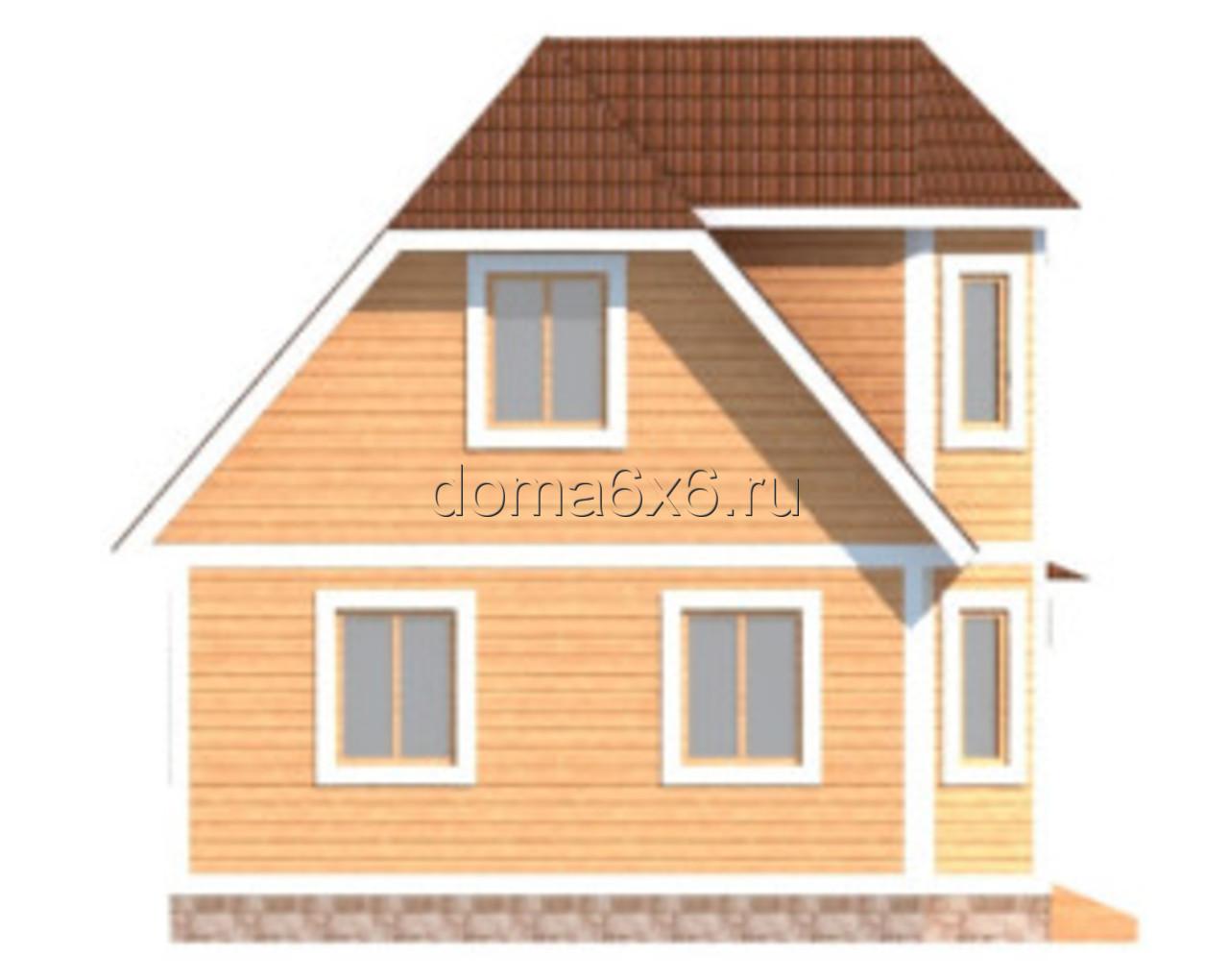 "Проект дома из бруса ""Валерий"" - 1"