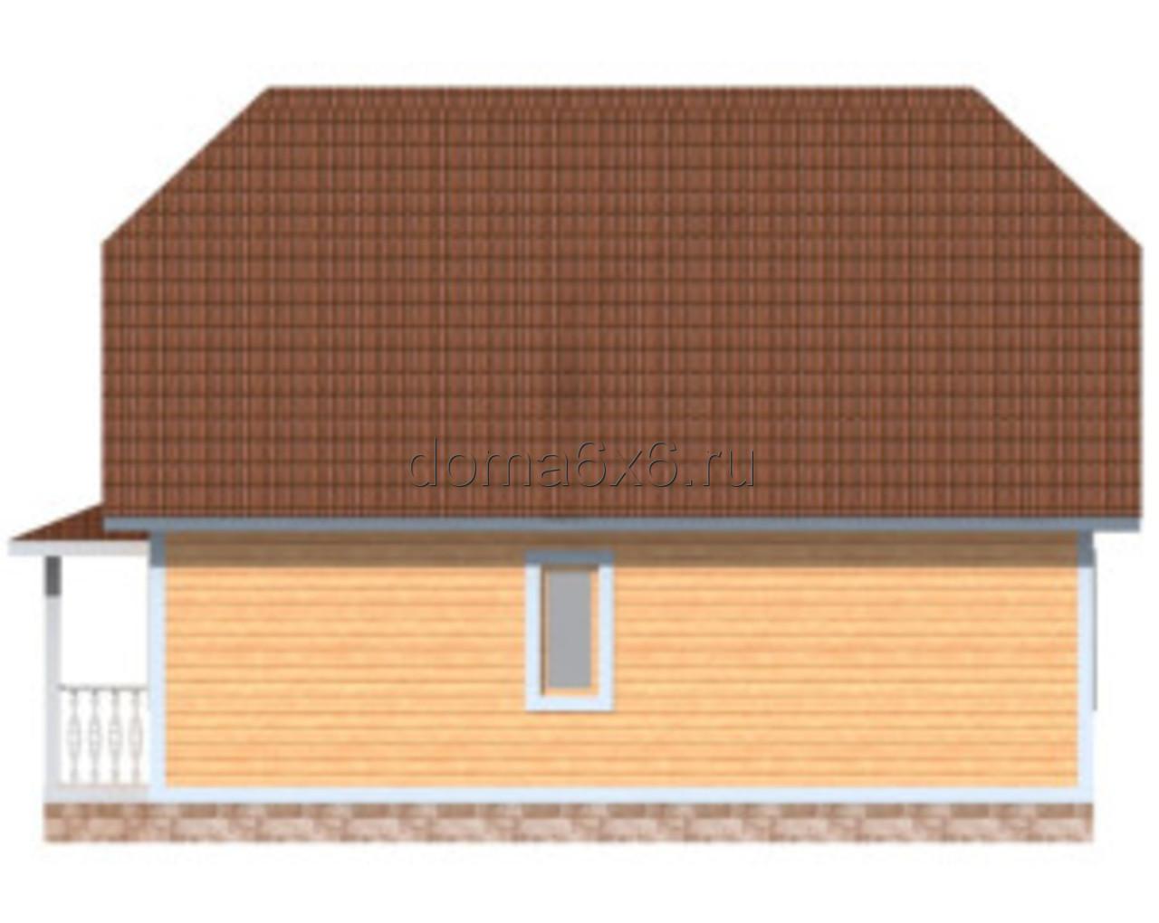 "Проект дома из бруса ""Валерий"" - 2"