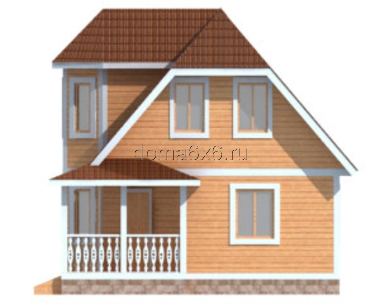 "Проект дома из бруса ""Валерий"" - 4"