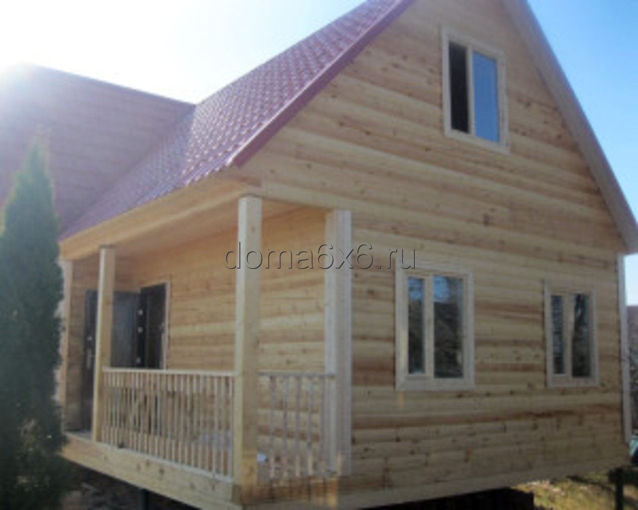 Строительство дома из бруса в Малой Вишере - 1