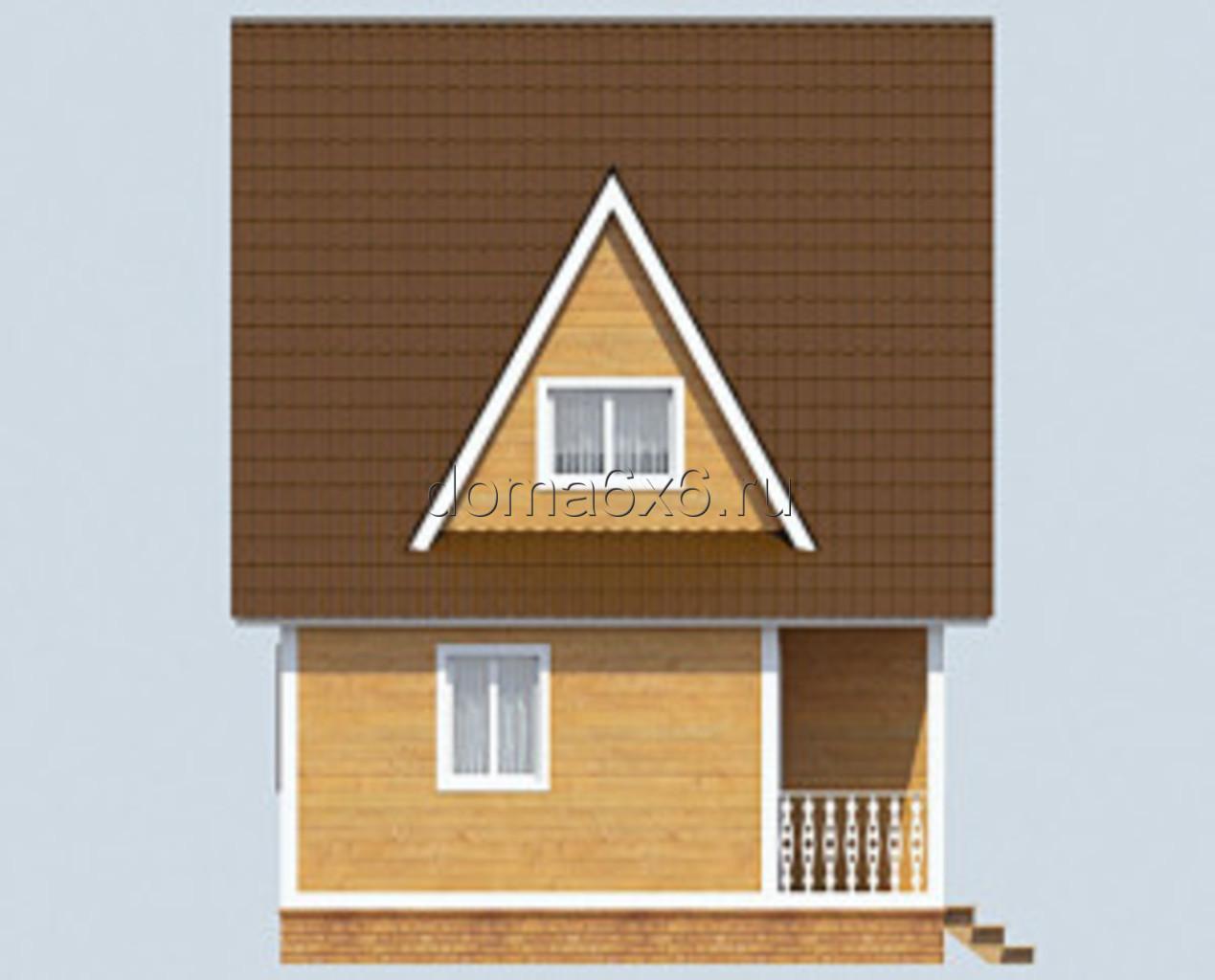 "Проект дома из бруса ""Архип"" - вид четвертый"
