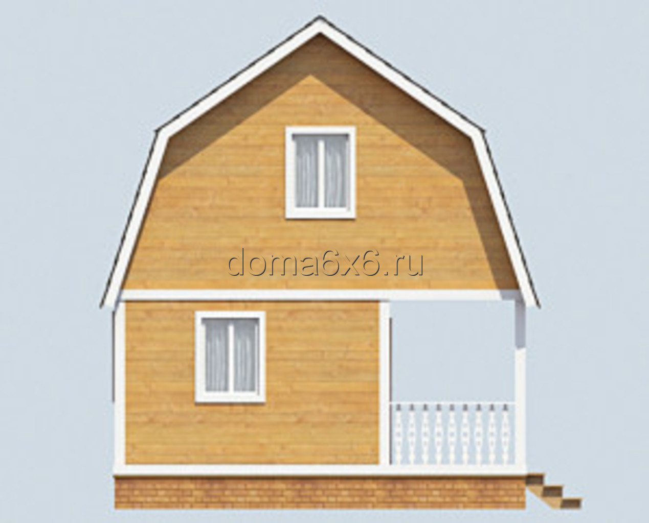 "Проект дома из бруса ""Артур"" - 1"