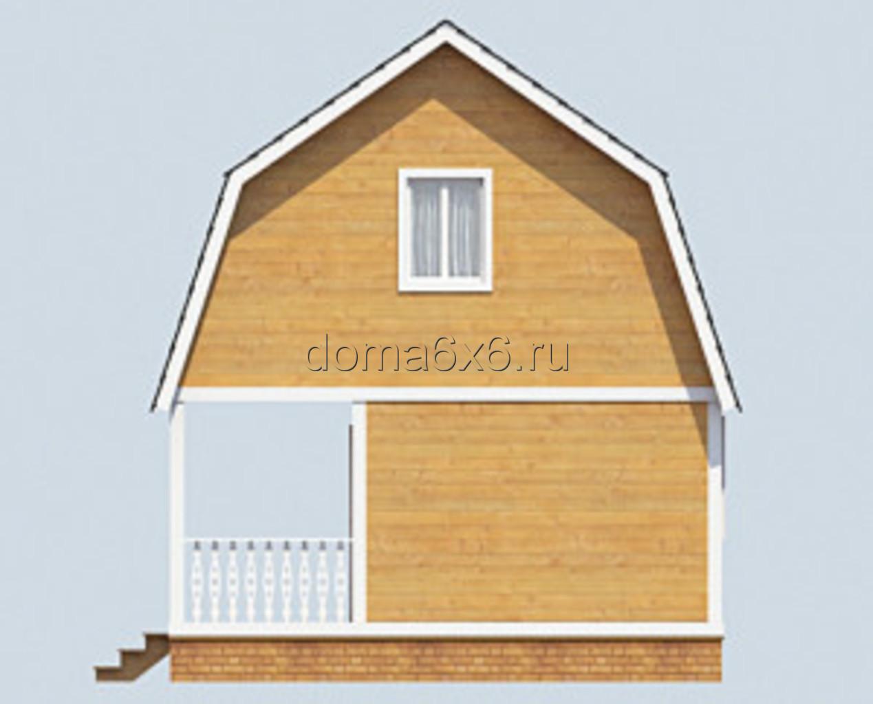 "Проект дома из бруса ""Артур"" - 3"