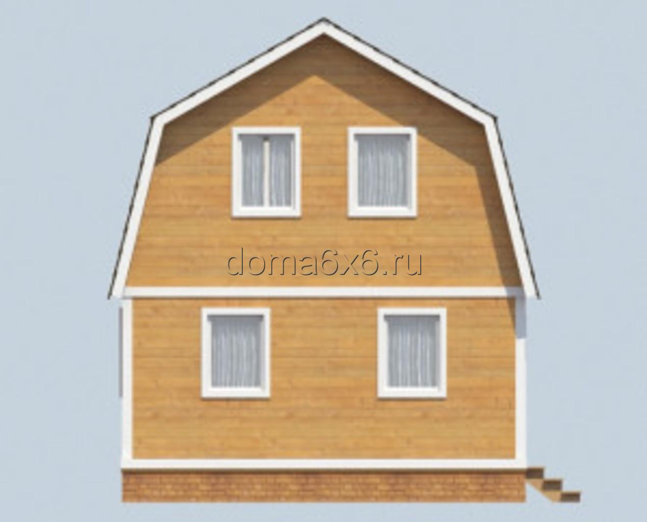 """Проект дома из бруса """"Клим"""" - 1"""