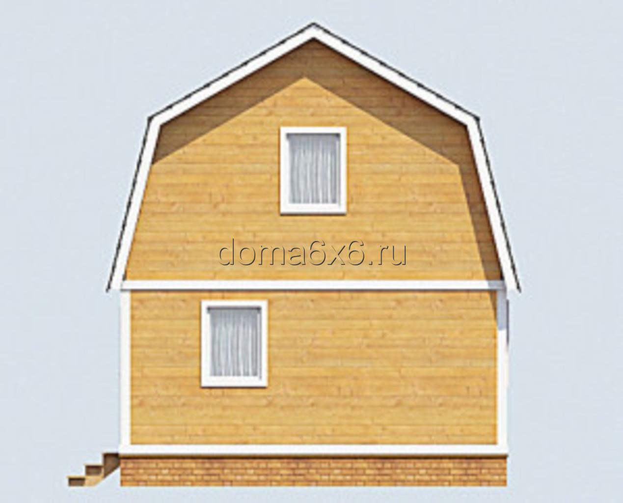 """Проект дома из бруса """"Клим"""" - 3"""
