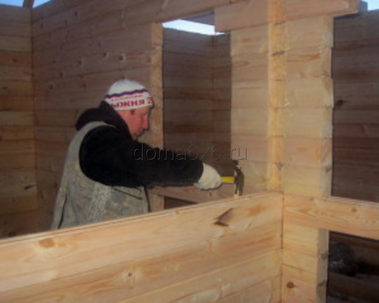 Строительство дома из бруса в д.Сельково - вид третий
