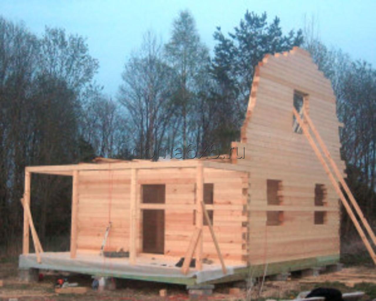 Строительство дома из бруса в д.Сельково - вид первый