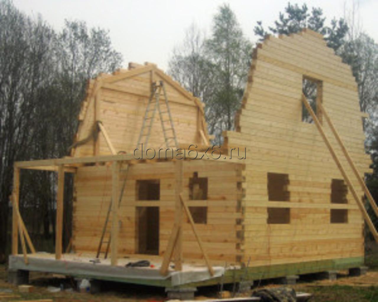 Строительство дома из бруса в д.Сельково - вид второй