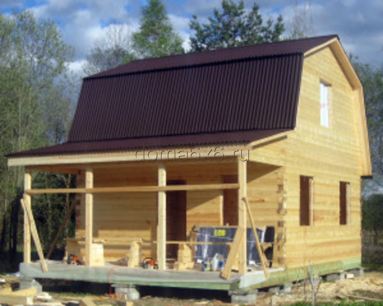 Строительство дома из бруса в д.Сельково - вид четвертый