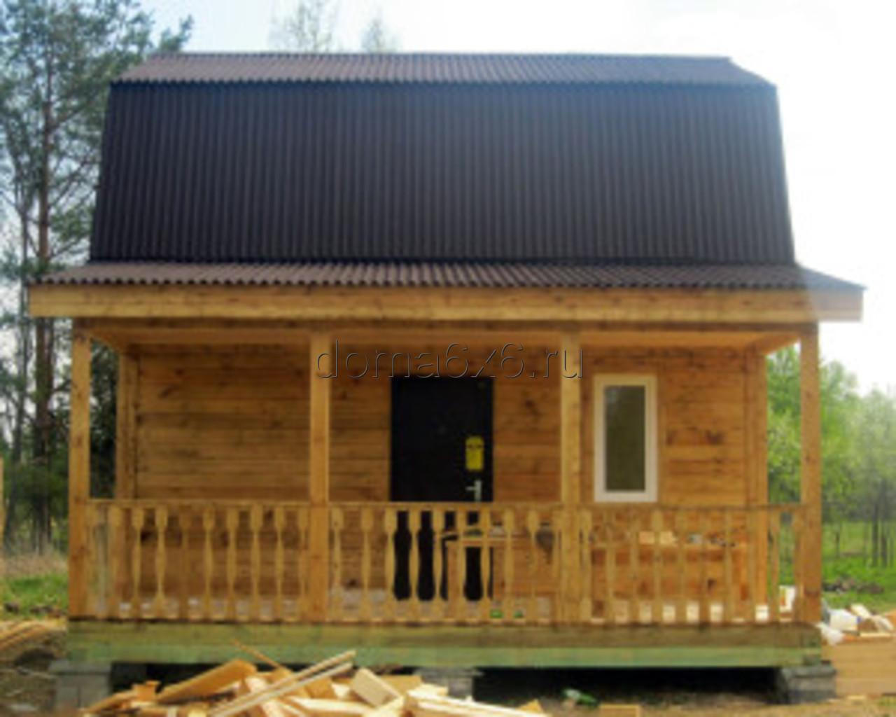 Строительство дома из бруса в д.Сельково - вид пятый
