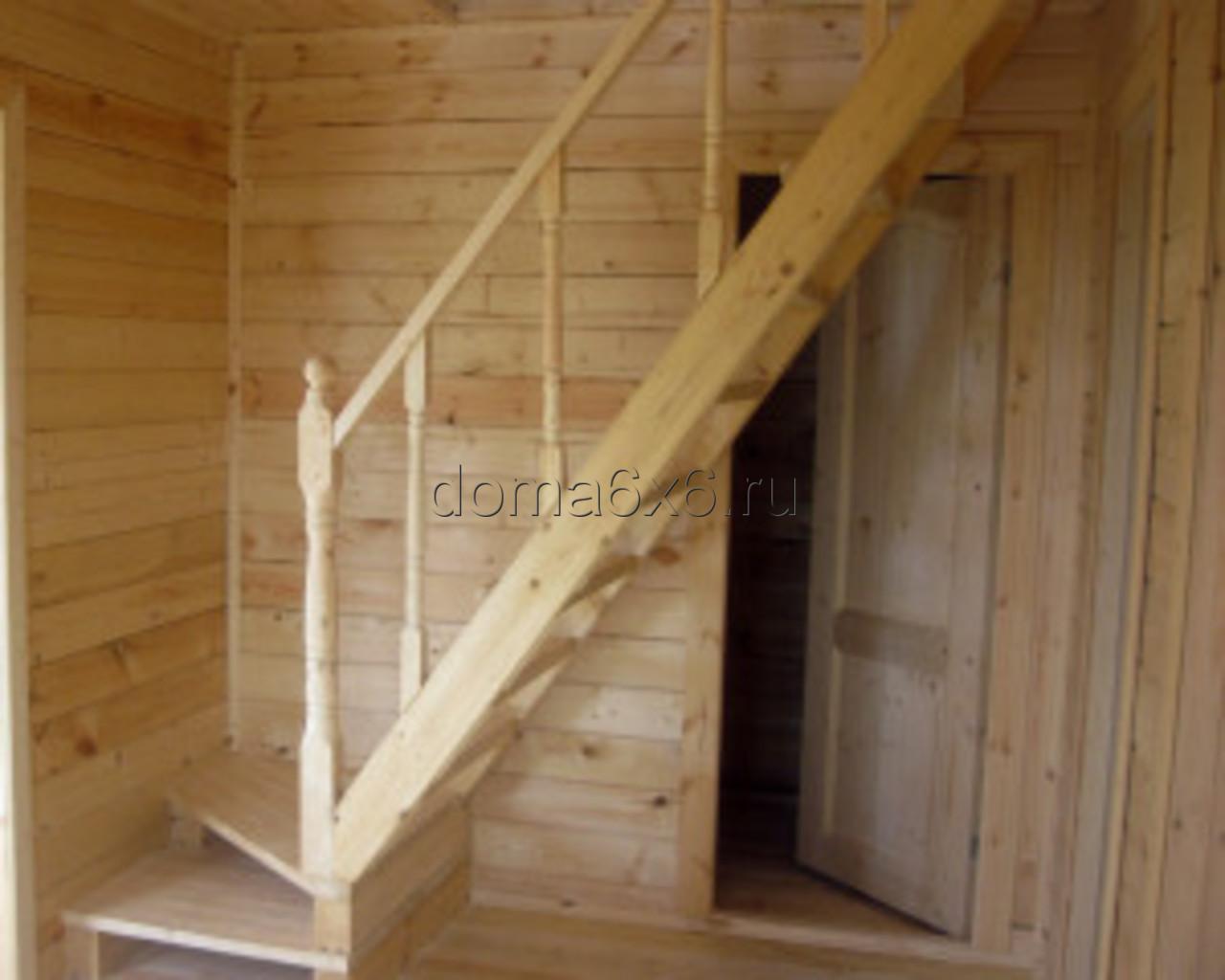 Строительство дома из бруса в д.Сельково - лестница