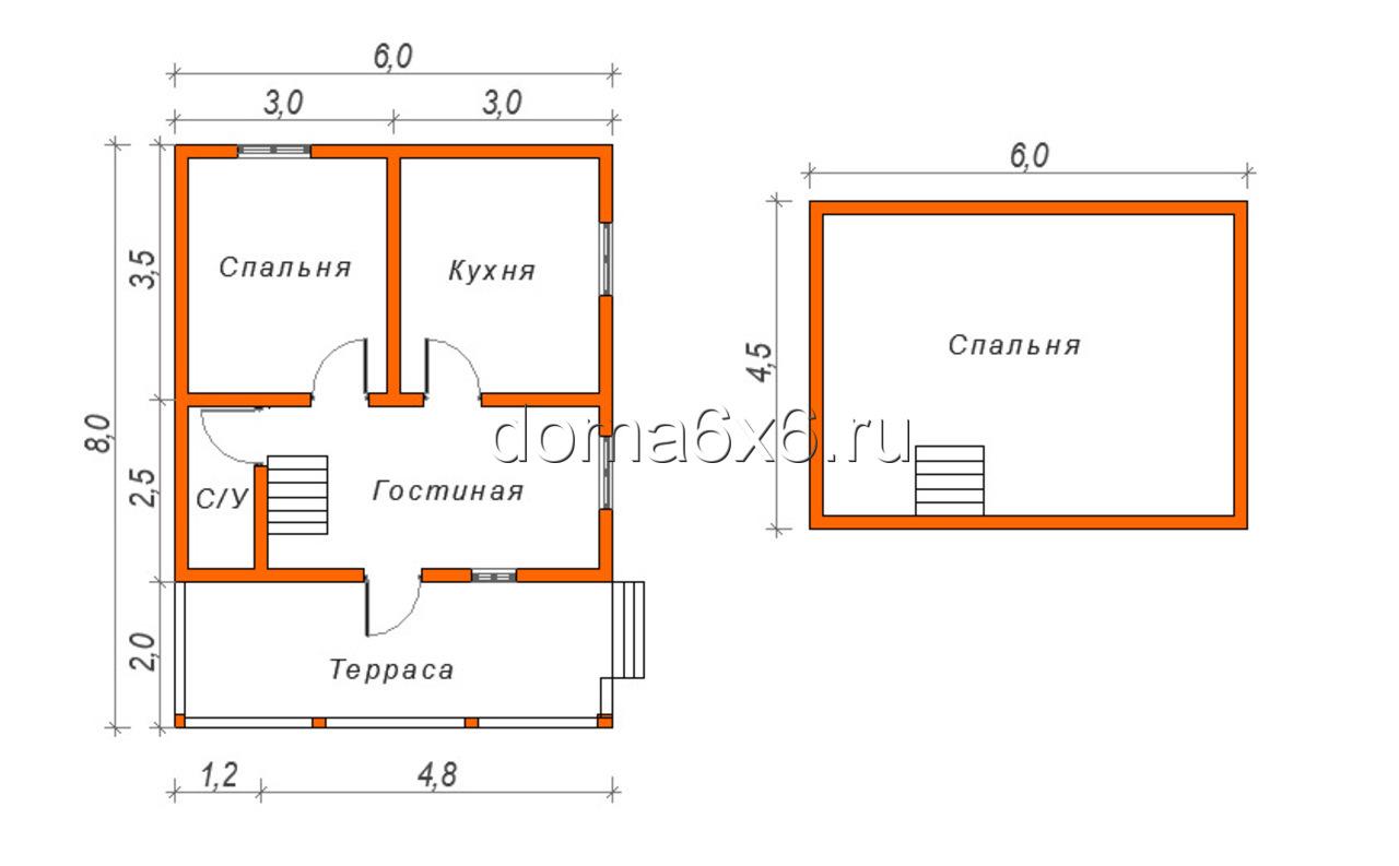 Строительство дома из бруса в д.Сельково - план