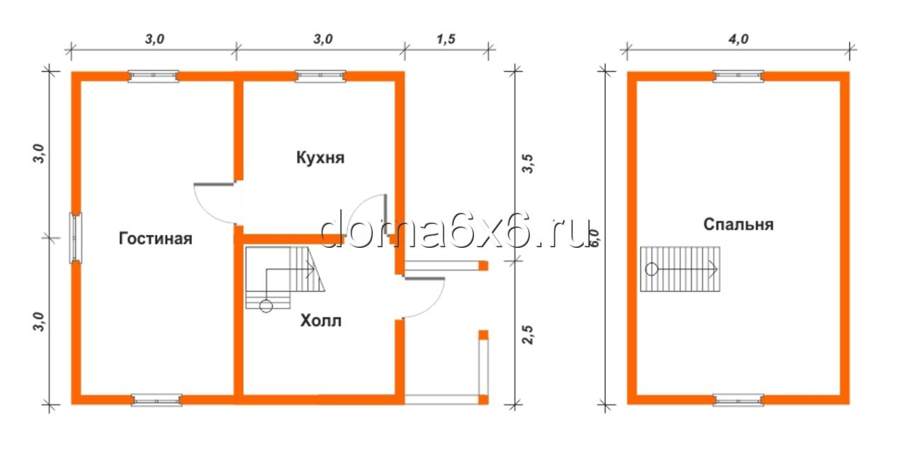 "Проект дома из бруса ""Авдий"" - план"