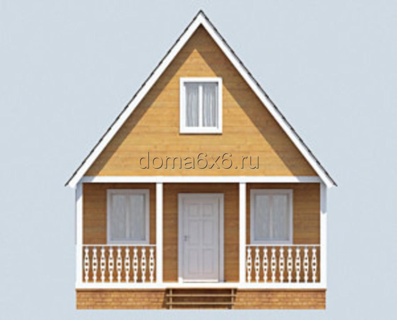 """Проект дома из бруса """"Марк"""" - 1"""