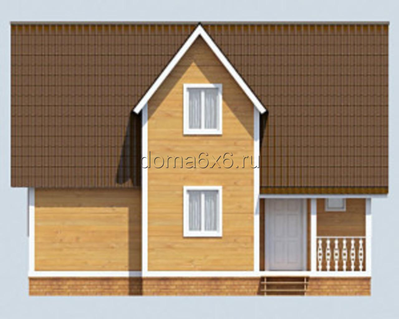 "Проект дома из бруса ""Феодосий"" - 1"