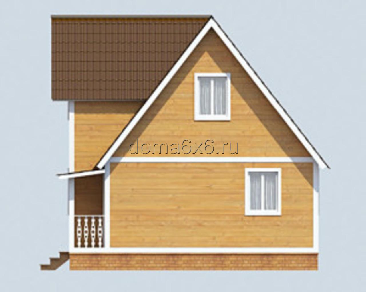 "Проект дома из бруса ""Феодосий"" - 2"