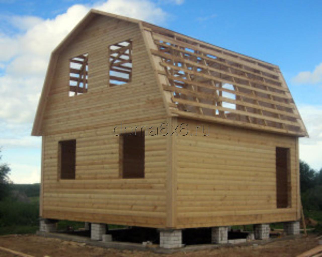 Строительство дома из бруса в  Тверской области - 1