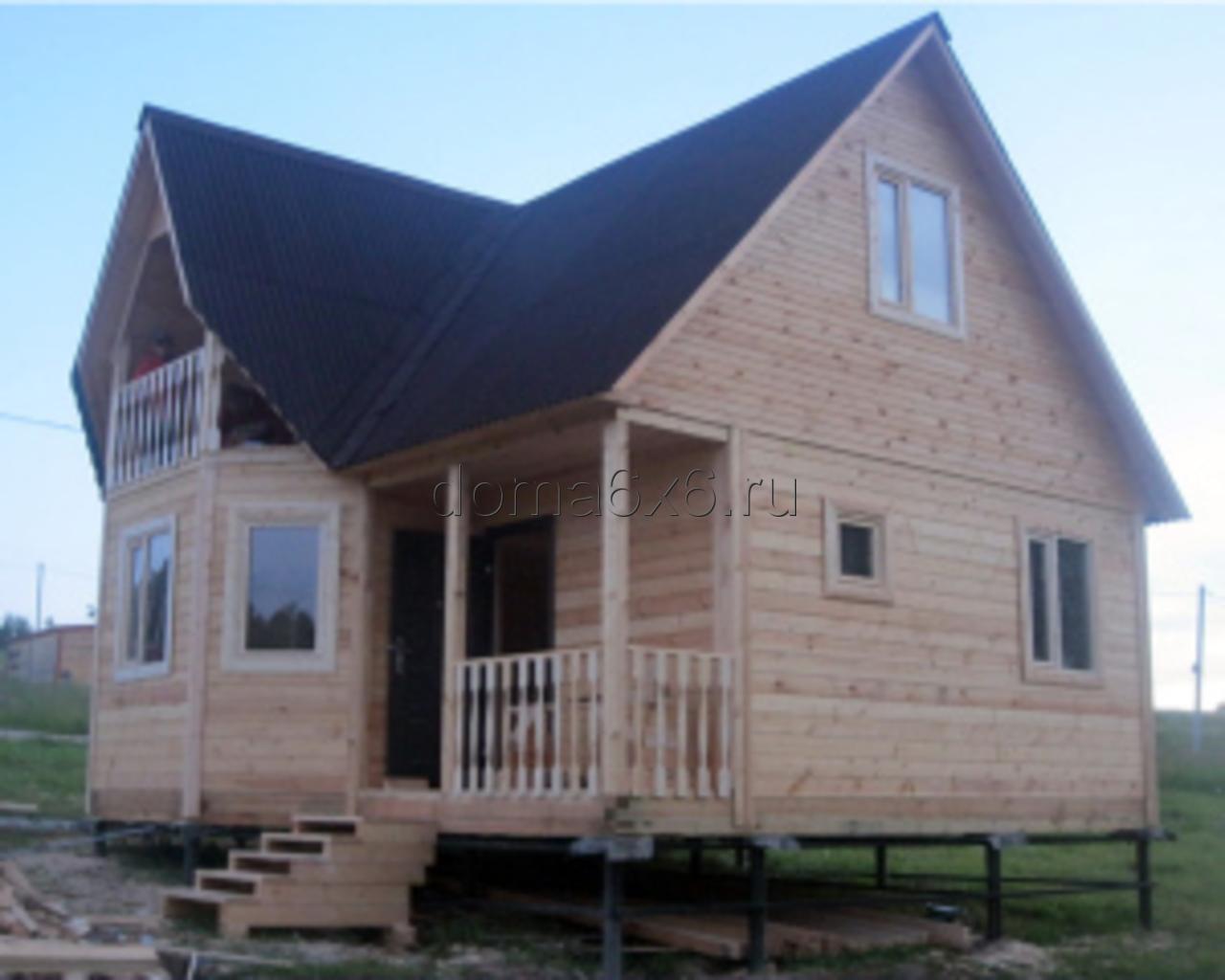 Строительство дома из бруса в Луге - 1