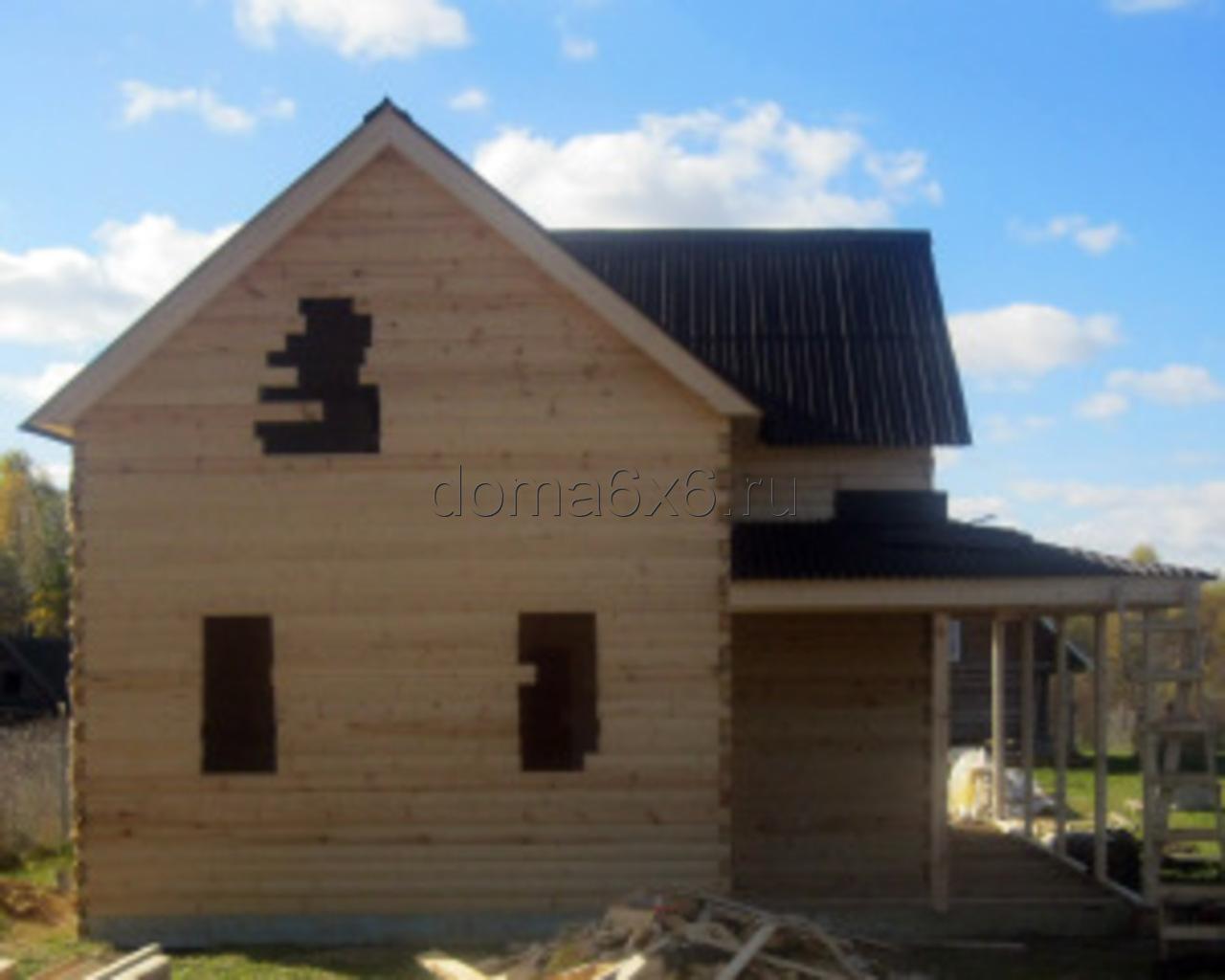 Строительство дома из бруса в д.Засколье - 1