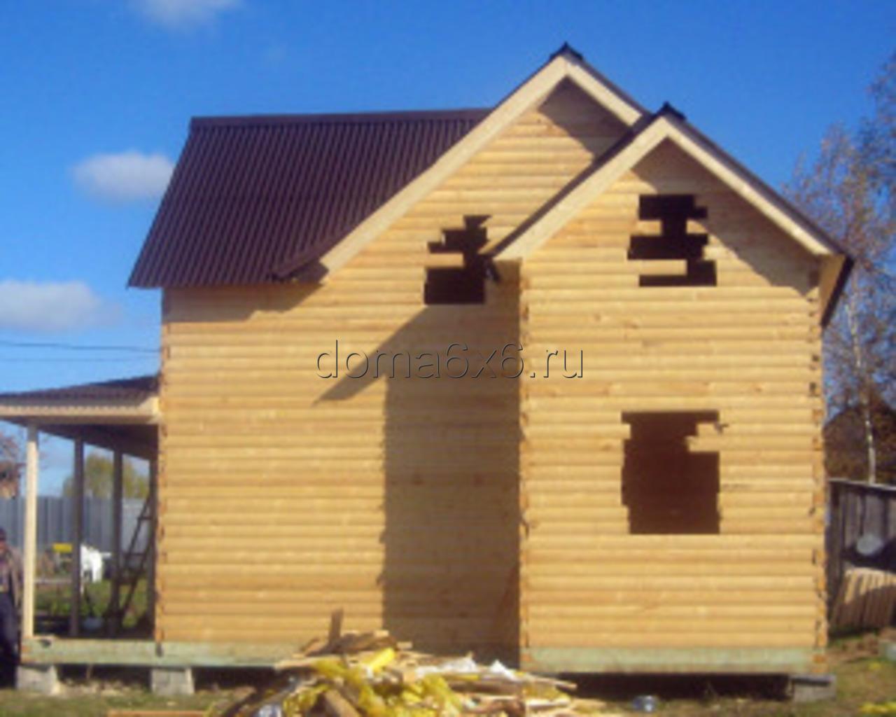 Строительство дома из бруса в д.Засколье - 2
