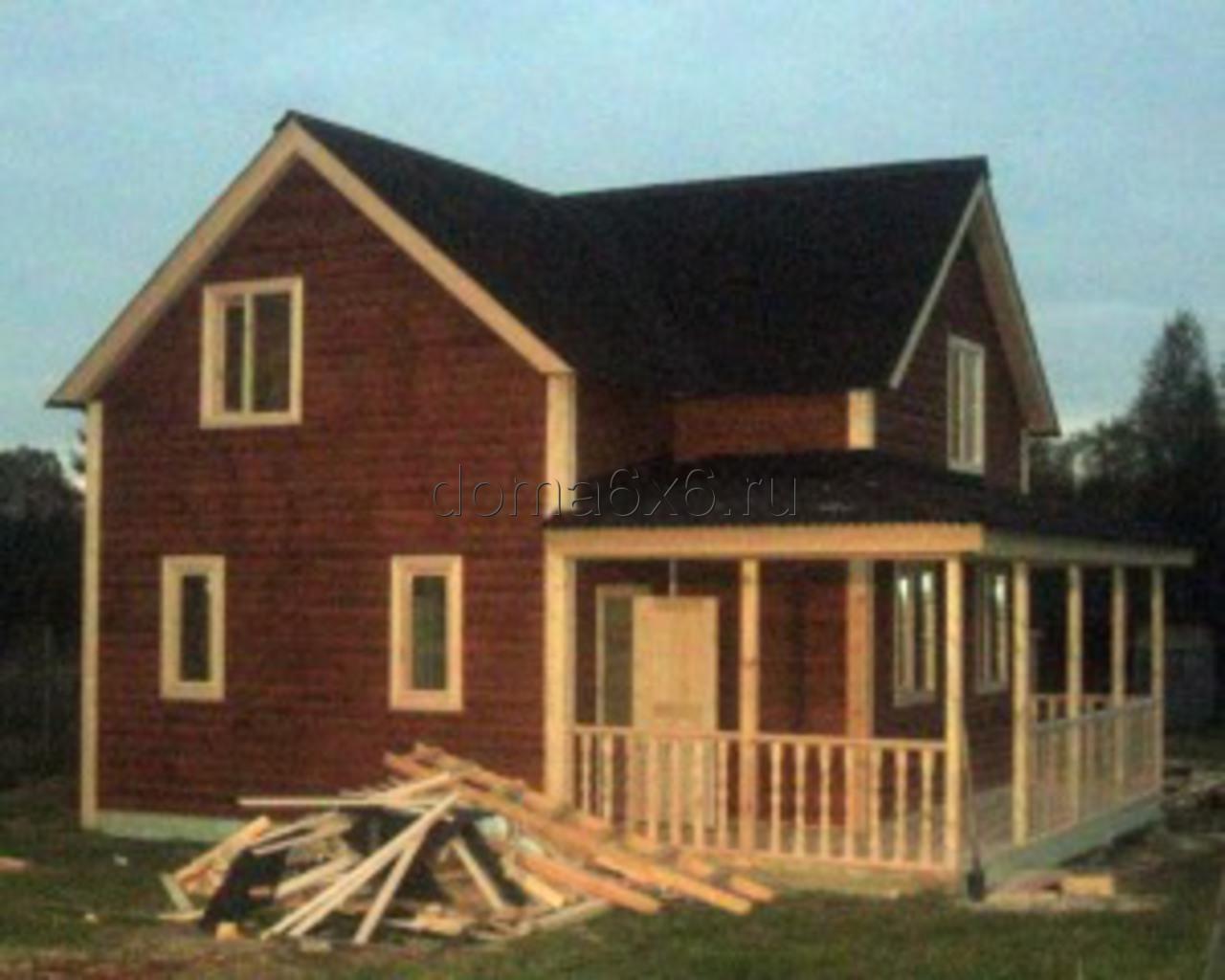 Строительство дома из бруса в д.Засколье - 9