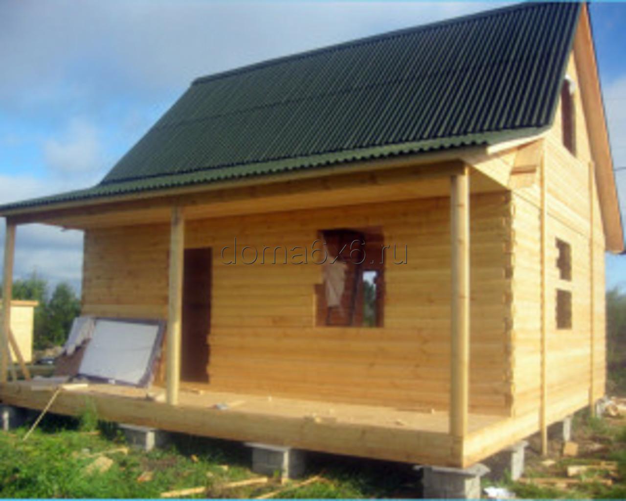 Строительство дома из бруса Владислав с дополнительной террасой - 1