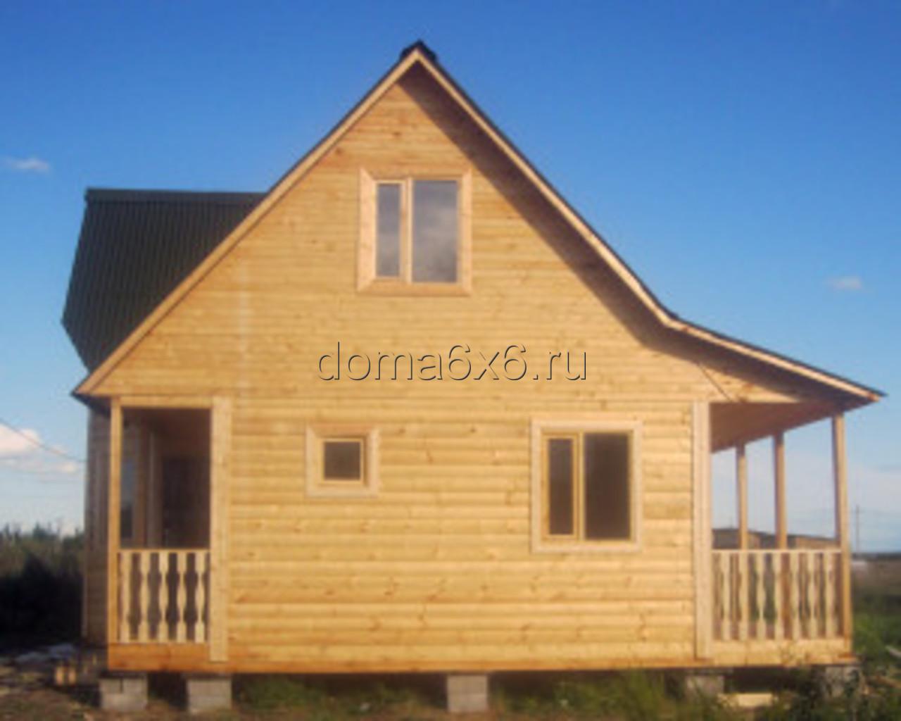 Строительство дома из бруса Владислав с дополнительной террасой - 2