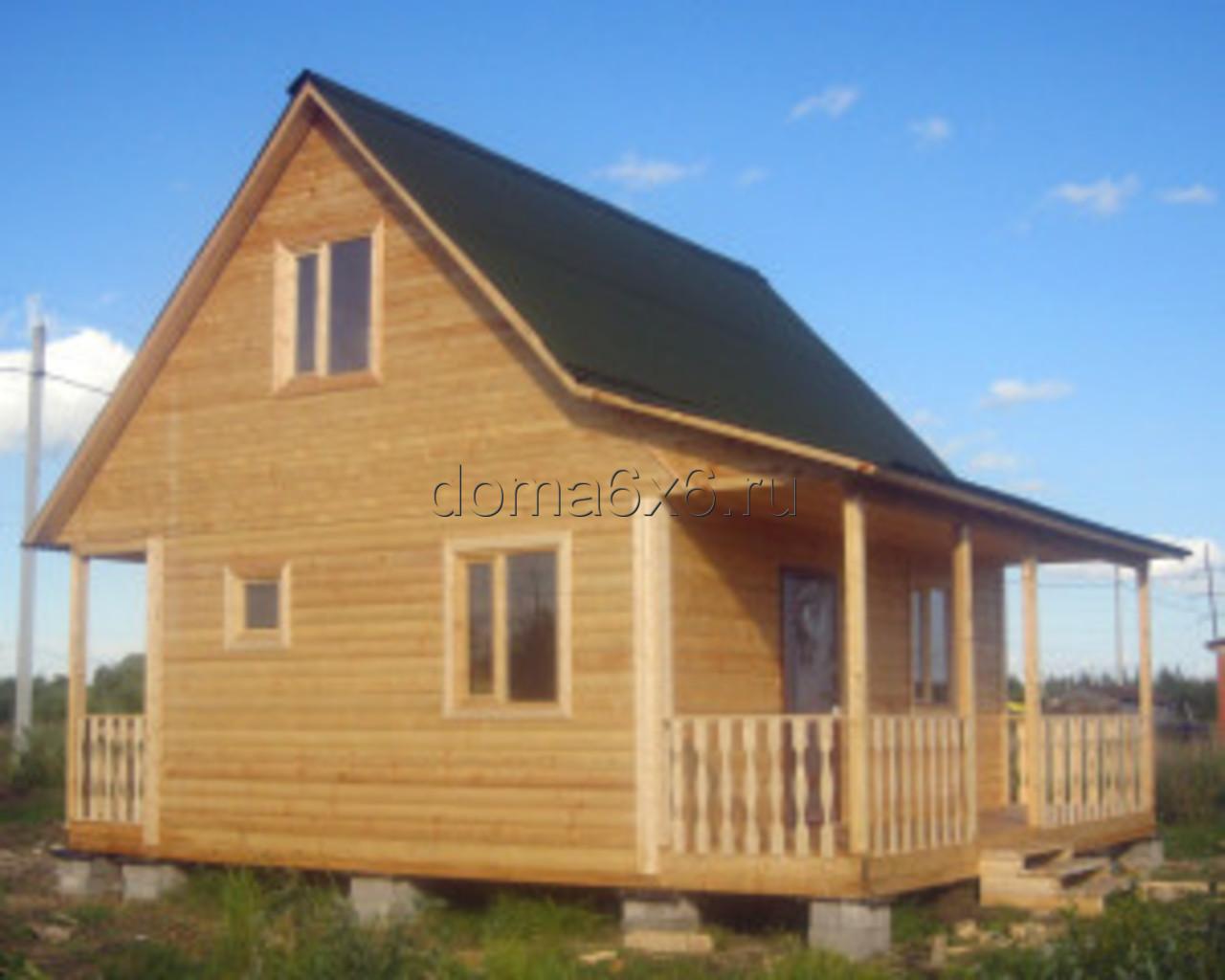 Строительство дома из бруса Владислав с дополнительной террасой - 3
