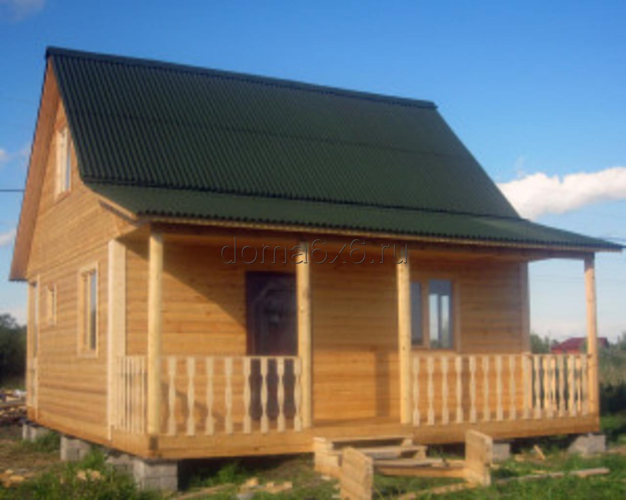 Строительство дома из бруса Владислав с дополнительной террасой - 4