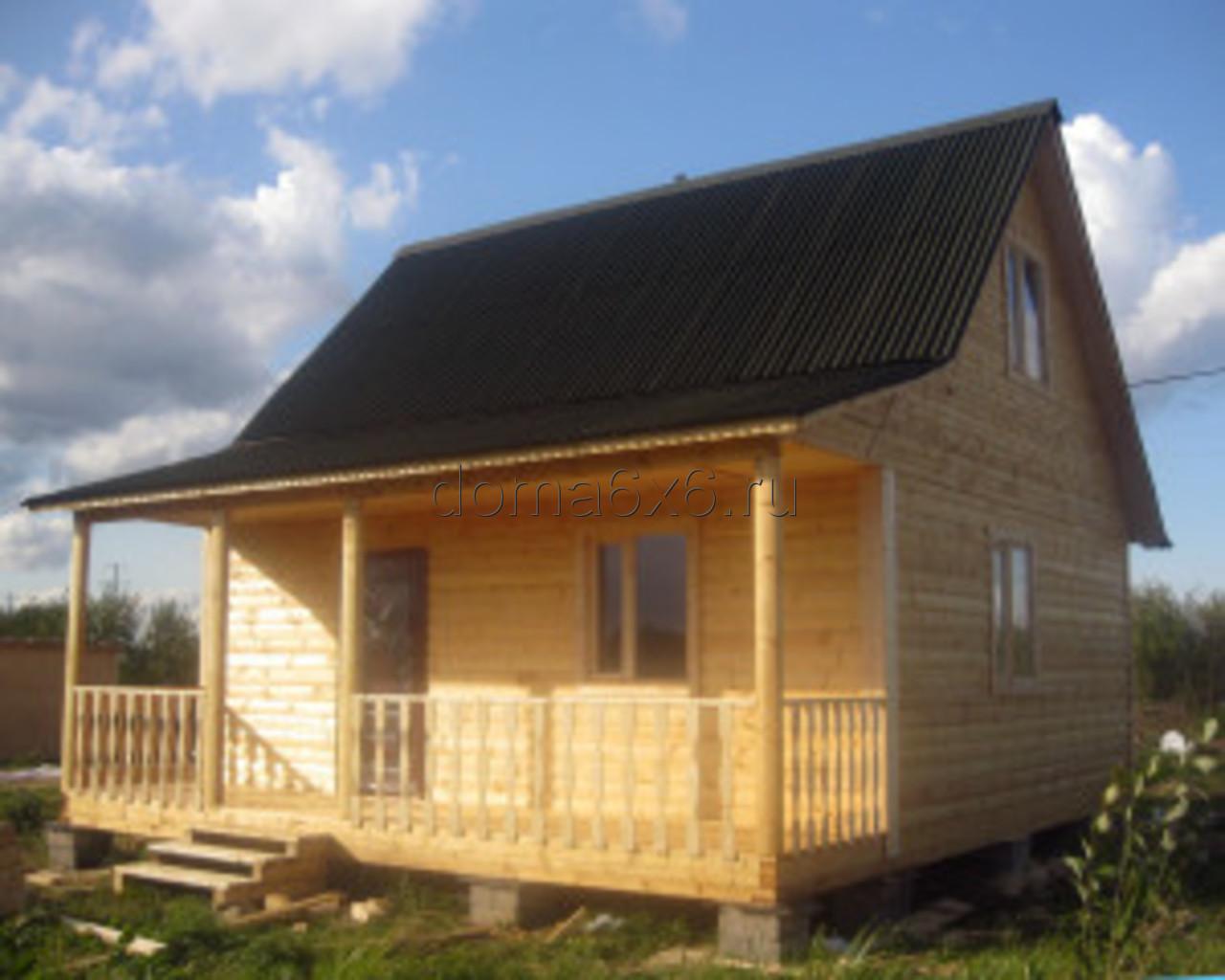 Строительство дома из бруса Владислав с дополнительной террасой - 5