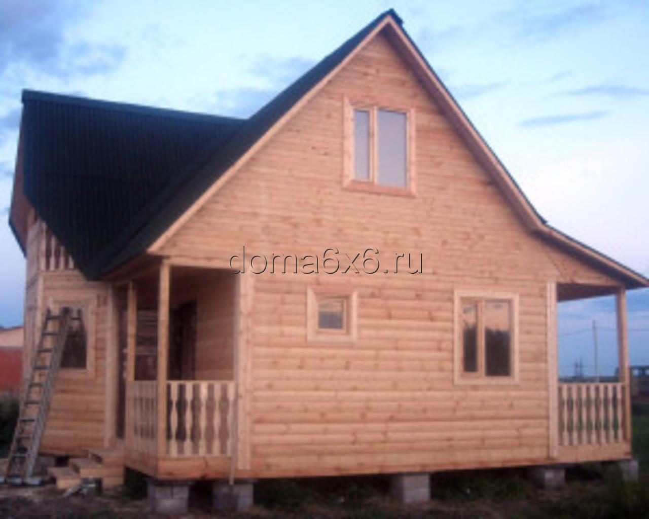 Строительство дома из бруса Владислав с дополнительной террасой - 6