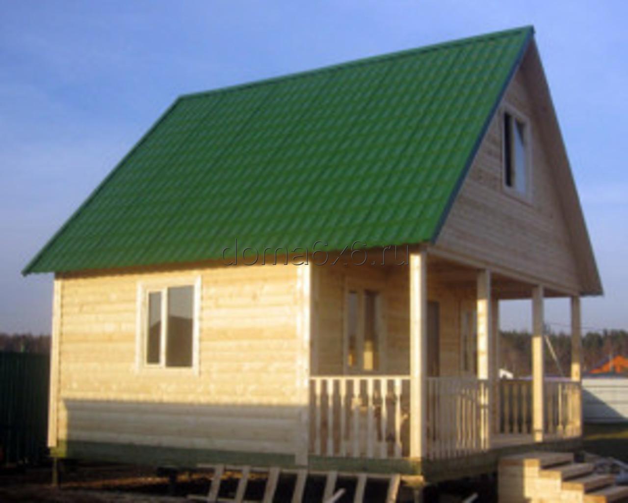 Строительство дома из бруса Марк в Лосино-Петровском - 1